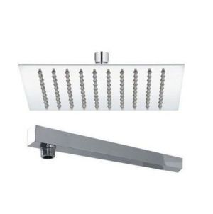 Buy Shoppingekart Super Ultra Thin SS Square (4'X4') Combo With (15') Long Steel Shower Head online