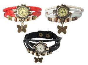 Buy SEK VA0155 Vintage Pack Of 3 Analog Watch