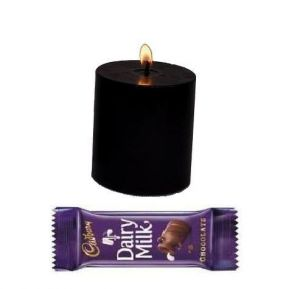 Buy Love Gift Classy Black Candle With Cadbury Chocolate online