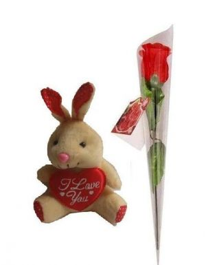 Buy Indigo Creatives Love Gift Teddy Bear With Love Red Rose online