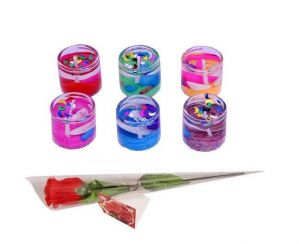 Buy Indigo Creatives Love Gift Sea Shore Theme Gel Tea Light Candle Set With Red Rose online