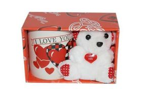 Buy Indigo Creatives Gift I Love You Coffee Mug With Teddy Bear Gift Set online