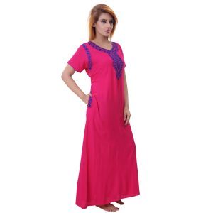 Buy Sleeping Story Women's Poly Cotton Solid Nighty online