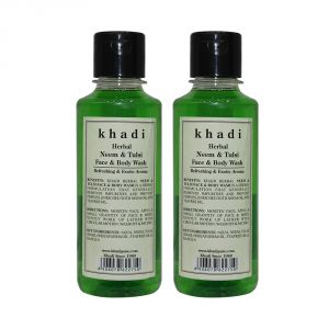 Buy Khadi Herbal Neem & Tulsi Face And Body Wash - 210ml (set Of 2) online