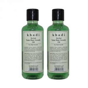 Buy Khadi Herbal Tulsi Hair Growth Oil - 210ml (set Of 2) online
