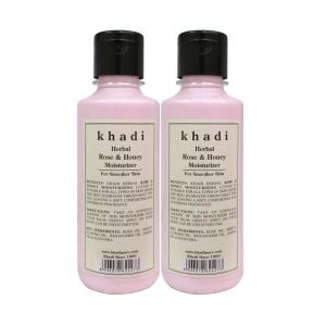 Buy Khadi Herbal Rose & Honey Moisturizer - 210ml (set Of 2) online