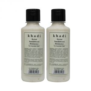 Buy Khadi Herbal Sandalwood Moisturizer - 210ml (set Of 2) online