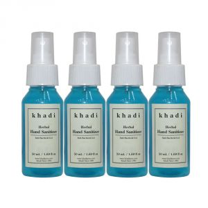 Buy Khadi Herbal Hand Sanitizer - 50ml (set Of 4) online