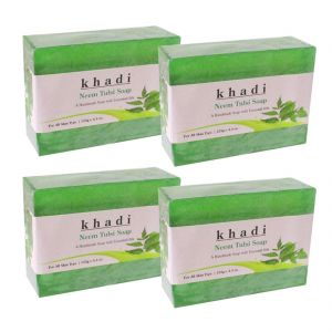 Buy Khadi Herbal Neem Tulsi Soap - 125g (set Of 4) online