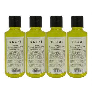 Buy Khadi Herbal Aromatic Bubble Bath With Lavender & Jasmine - 210ml (set Of 4) online