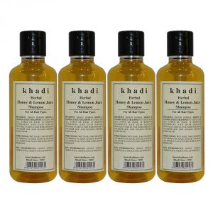 Buy Khadi Herbal Honey & Lemon Juice Shampoo - 210ml (set Of 4) online