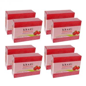 Buy Khadi Herbal Strawberry Soap - 125g (set Of 8) online