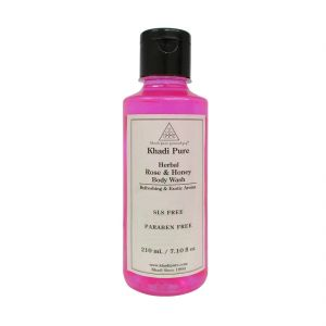 Buy Khadi Pure Herbal Rose & Honey Body Wash Sls-paraben Free - 210ml online