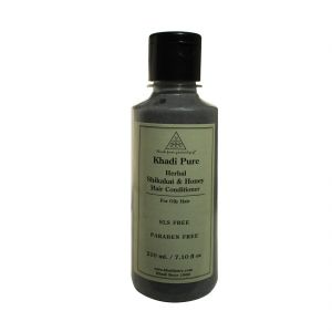 Buy Khadi Pure Herbal Shikakai & Honey Hair Conditioner Paraben Free - 210ml online