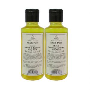 Buy Khadi Pure Herbal Sandal & Turmeric Body Wash - 210ml (set Of 2) online