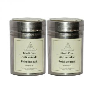 Buy Khadi Pure Herbal Anti Wrinkle Face Mask - 50g (set Of 2) online