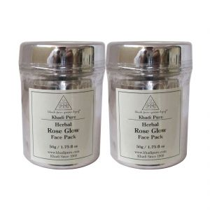 Buy Khadi Pure Herbal Rose Glow Face Pack - 50g (set Of 2) online