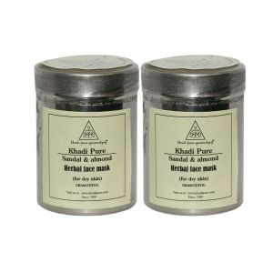 Buy Khadi Pure Herbal Sandal & Almond Face Mask (for Dry Skin) - 50g (set Of 2) online