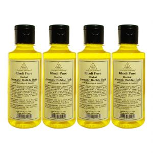 Buy Khadi Pure Herbal Aromatic Bubble Bath With Lavender & Jasmine - 210ml (set Of 4) online