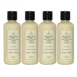 Buy Khadi Pure Herbal Orange & Lemongrass Hair Conditioner Sls-paraben Free - 210ml (set Of 4) online