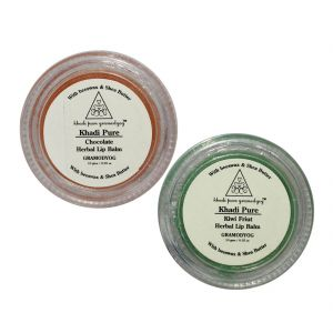 Buy Khadi Pure Chocolate And Kiwi Lip Balm Combo (20g) Pack 2 online