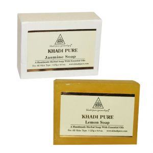Buy Khadi Pure Jasmine And Lemon Soap Combo (250g) Pack 2 online