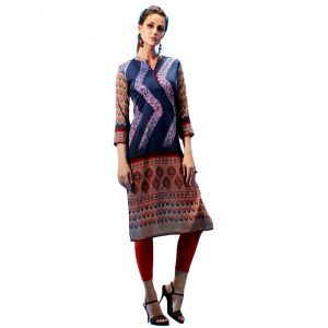 Buy Vibhusha Soft Silk Digital print Kurti online