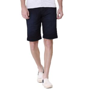 Buy Kozzak Mens Slim Fit Blue Denim Bermuda Shorts online
