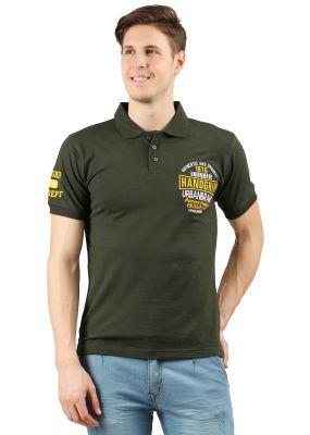 495b933c29f5fc Buy Handgrip Dark Green Men's Polo T-shirt Online   Best Prices in ...
