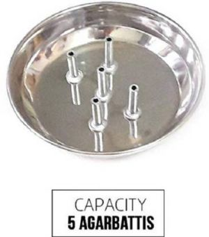 Buy Agarbatti Holding Plate Stainless Steel 5-sticks Stand -1 PCs online