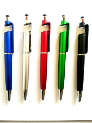 Buy Rny Touch Screen Stylish Mobile Holder 3 In 1 Ball Pen Multi-function Pen (pack Of 5) online