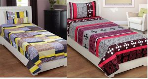 Buy Bene Cotone Single Printed Bedsheet With 1 Pillow Covers ( Set Of 2 ) online