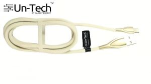 Buy Untech Mesh Plastic Rubber Covered USB Cable Light Cream White For Apple online