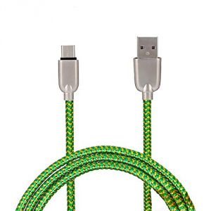 Buy Untech Mesh Plastic Rubber Covered USB Cable Green For Android online