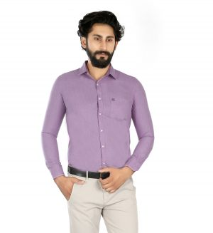 Buy Lisova Purple Slim Fit Shirt online