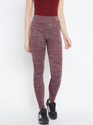 Buy C9 Airwear Womens Solid Maroon Legging With Self Jaquard online