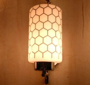 buy re design set of 2 unique glass lamp wall light wall lights