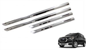 Buy Trigcars Datsun Go Cross Car Stee Chrome Side Beading online