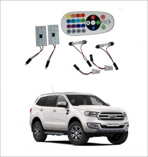 Buy Trigcars Ford Endeavour New 2 X 16 Colors Rgb Bright 5050 LED Car Roof Dome Light Festoon T10 IR Remote online