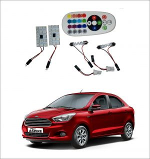 Buy Trigcars Ford Figo Aspire 2 X 16 Colors Rgb Bright 5050 LED Car Roof Dome Light Festoon T10 IR Remote online