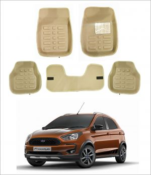 Buy Trigcars Car Carpet Cream Car Floor/foot Mats For Ford Freestyle online