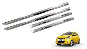 Buy Trigcars Hyundai Eon Car Steel Chrome Side Beading online
