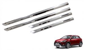 Buy Trigcars Hyundai I20 Active Car Steel Chrome Side Beading online