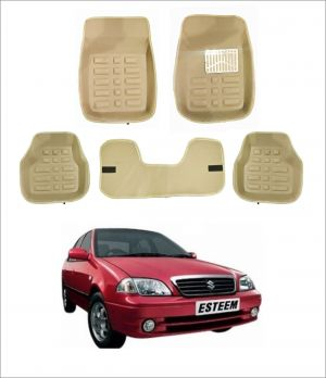 Buy Trigcars Car Carpet Cream Car Floor/foot Mats For Maruti Suzuki Esteem online