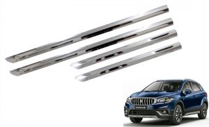 Buy Trigcars Maruti Suzuki S-cross New Car Steel Chrome Side Beading online