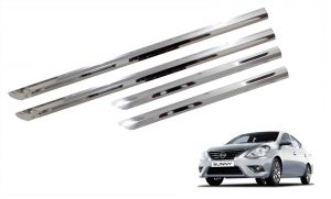 Buy Trigcars Nissan Sunny Car Steel Chrome Side Beading online