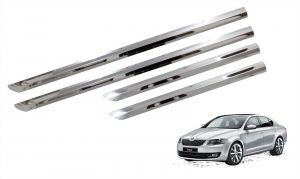 Buy Trigcars Skoda Octavia Car Steel Chrome Side Beading online