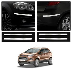 Buy Trigcars Ford Ecosport Car Chrome Bumper Scratch Potection Guard