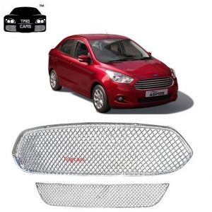 Buy Trigcars Ford Figo Aspire Car Front Grill Chrome Plated online