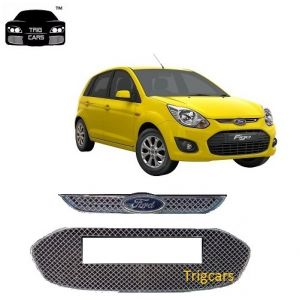 Buy Trigcars Ford Figo Old Car Front Grill Chrome Plated online